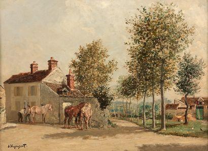 Jules Jacques VEYRASSAT (1828-1893)  Le Maréchal-ferrant...