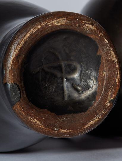 Georges JOUVE (1910-1964)  Pichet en céramique à corps ovoïde galbé et anse latérale...
