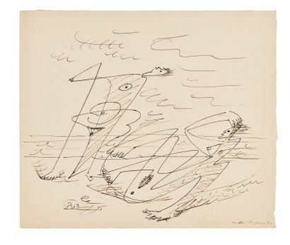 André MASSON (1896-1987) Au bord de la mer,...