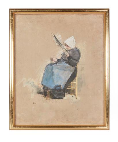 Siebe Johannes TEN CATE (1858-1908)  La Fileuse...