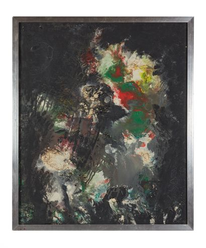 Thanos TSINGOS (1914-1965) Composition abstraite...