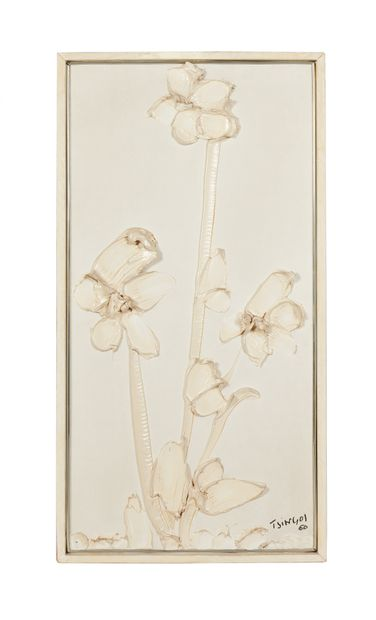 Thanos TSINGOS (1914-1965) Trois fleurs...