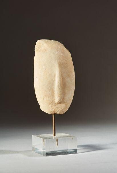 Tête provenant d'une statuette représentant...