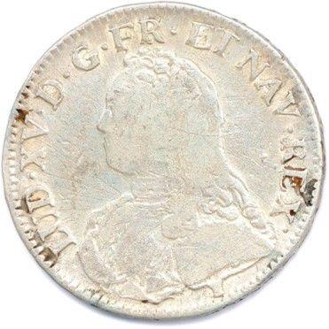 Deux monnaies en argent de LOUIS XV : Ecu...