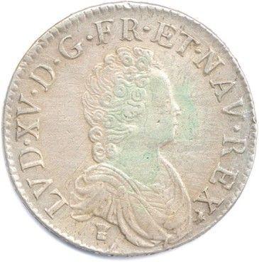 LOUIS XV 1715-1774. Ecu Vertugadin en argent...