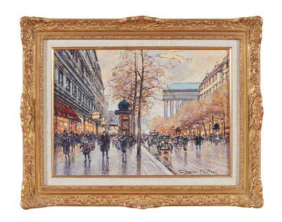 Jacques MULLER (XXe siècle) : Paris, le boulevard...