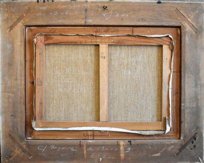 Guy CAMBIER (1923-2008) : La roulotte. Huile sur toile signée en bas à gauche. Haut....
