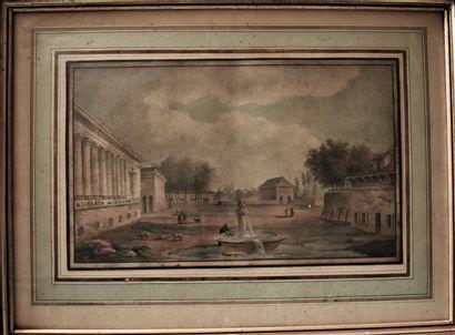ECOLE FRANÇAISE vers 1800 : Personnages et...