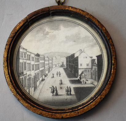 ECOLE FRANÇAISE du XVIIIe siècle : Perspective...