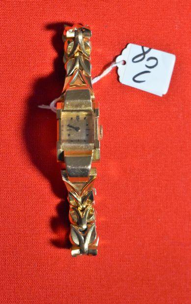 MONTRE bracelet de dame en or, vers 1945/1950....