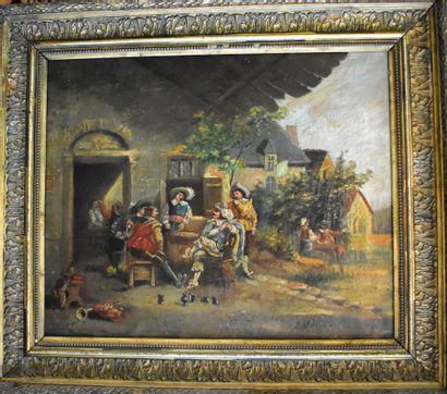 ECOLE FRANÇAISE du XIXe siècle : Mousquetaires...