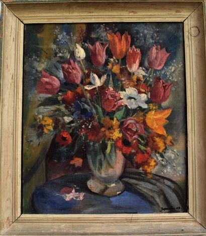 Gaston MARTY (1905-1977) : Bouquet de fleurs....