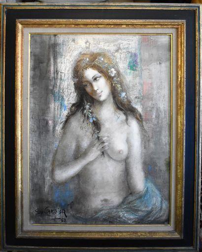 Guy CAMBIER (1923-2008) : Jeune femme en...
