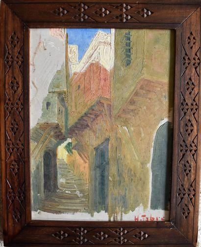 Henri FABRE (1880-1950) : Rue en Afrique...