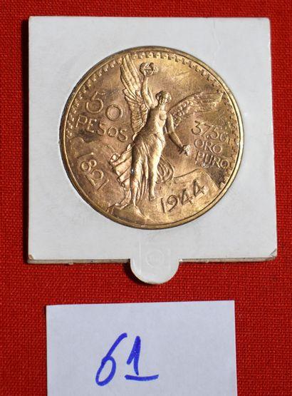 UNE PIECE OR de 50 pesos, 1944.