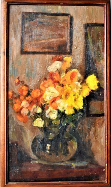 ECOLE FRANÇAISE du XXe siècle : Bouquets...