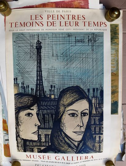 LOT of about 20 AFFICHES and various sheets including Mourlot: de Staël (torn),...