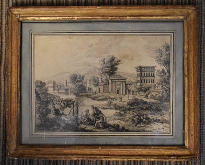 ECOLE FRANÇAISE du XVIIIe siècle : Scène...