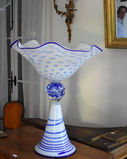 MURANO : IMPORTANTE COUPE en verre soufflé...