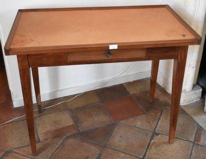 TABLE rectangulaire en merisier, ouvrant...