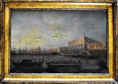 ECOLE ITALIENNE vers 1800 : Venise, le Grand...