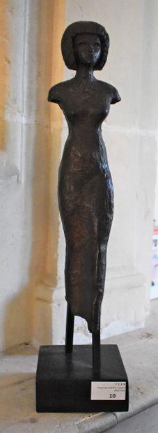 STATUETTE égyptienne. Chalcographie du Louvre....