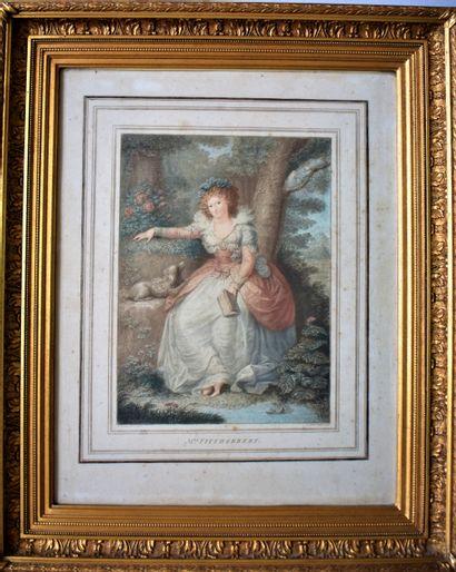D'après COSSWAY : Portrait de Miss Fitzherbert....
