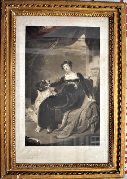 D'après LAWRENCE, Portrait d'une jeune femme...
