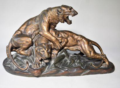 Edouard DROUOT (1859-1945) : GROUPE en bronze...