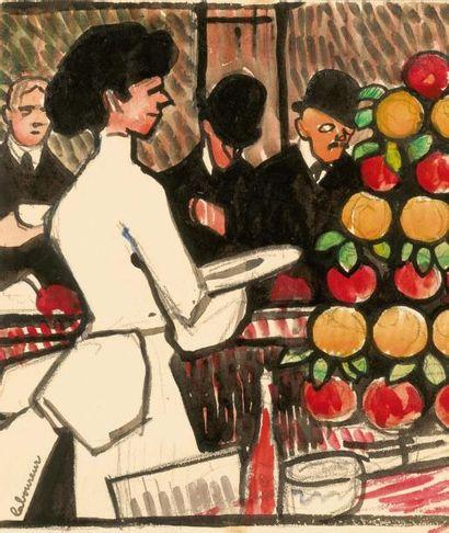 La Serveuse de bar à Londres. 1908 (L., t.3,...