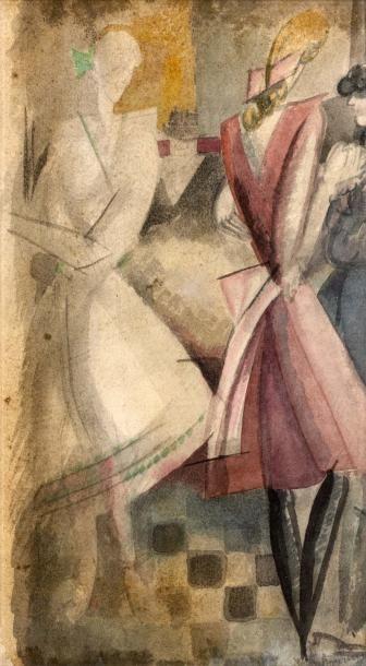 Les Vendeuses. Vers 1914 (L., t.3, 299) Aquarelle...