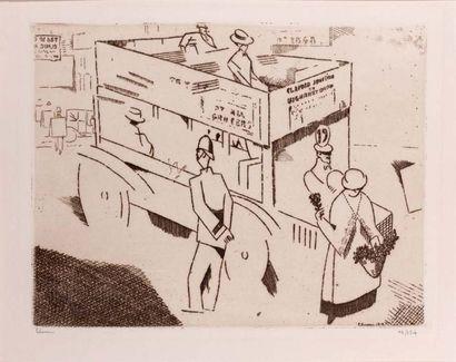 Le Policeman, Londres. 1913 Eau-forte sur...