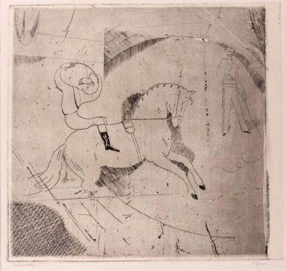 Le Jockey d'Epsom (Première planche). 1913....