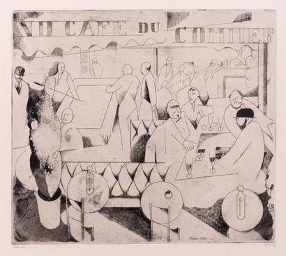 Le Café du commerce. 1913. Burin (L. 126)....