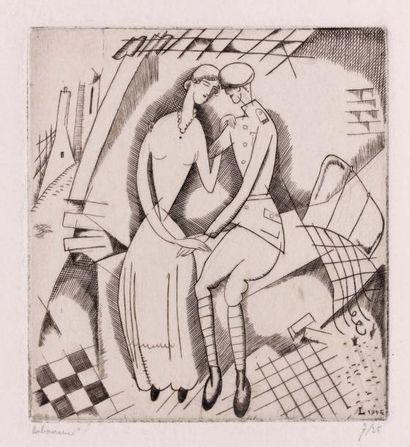 L'Amour dans les Ruines. 1916. Burin (L....