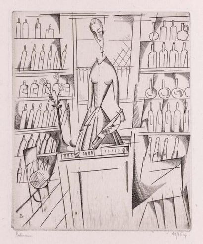 La Marchande de liqueurs. 1916. Burin (L....
