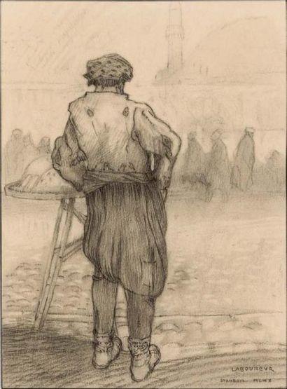 Marchand à Slamboul. 1910 (L., n. d.) Fusain...