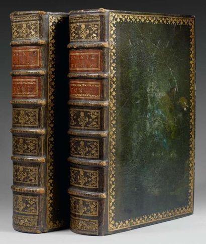 BIBLE. [LE MAISTRE DE SACY (L.I.)]. La Sainte...