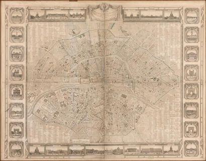 Plan de Paris par Bonnisel, 1815. Imprimé...