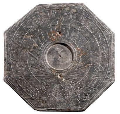 Cadran solaire de jardin aux signes du zodiaque....