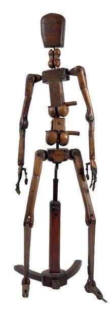 Mannequin d'atelier Armature articulée et...