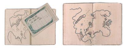 Cartes manuscrites Pêche de la morue à l'Isle...