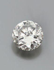 Diamant taillé en brillant. Poids 3,3 0 ct...