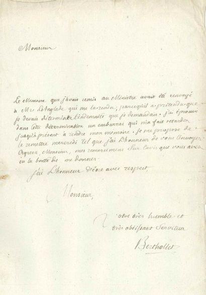 Claude BERTHOLLET (1748-1822)