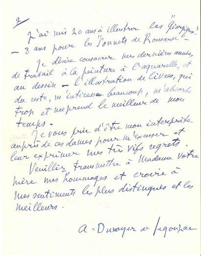 André DUNOYER DE SEGONZAC (1884-1974)