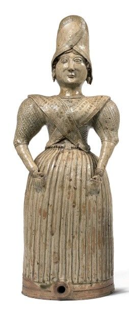 Fontaine anthropomorphe figurant une femme...