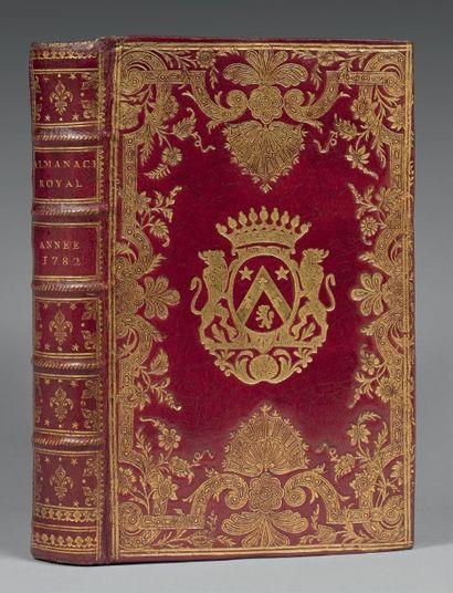 ALMANACH ROYAL. Année 1782. Paris, D'Houry,...