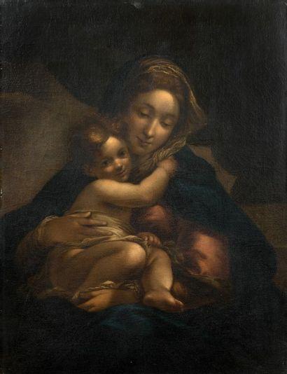Ecole lombarde, vers 1600 Vierge à l'enfant...