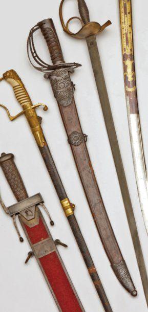 Couteau de chasse, garde tournante en fer,...