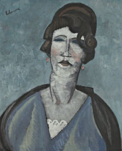 Ernestine ou La Fille à Mélie. 1924 Huile...